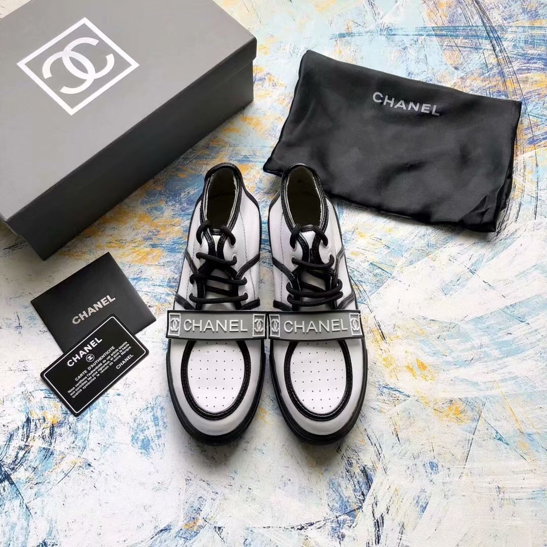 Chanel Lambskin Sneakers shoes CH2435XXC white&black