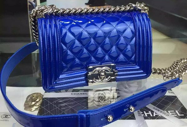 Boy Chanel mini Flap Shoulder Bag Original Leather A5707 Blue