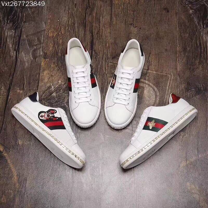 Gucci Lovers Casual Shoes GG8565H White