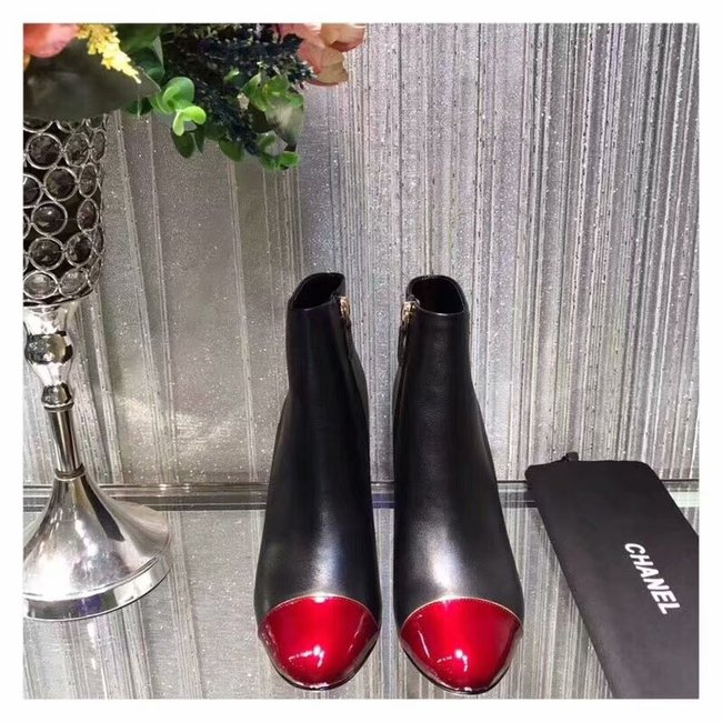 Chanel Ankle Boot CH2440BL Black&red