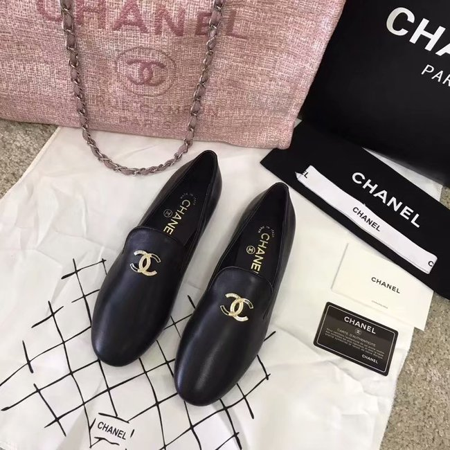 Chanel Loafers Lambskin CH2447LS Black