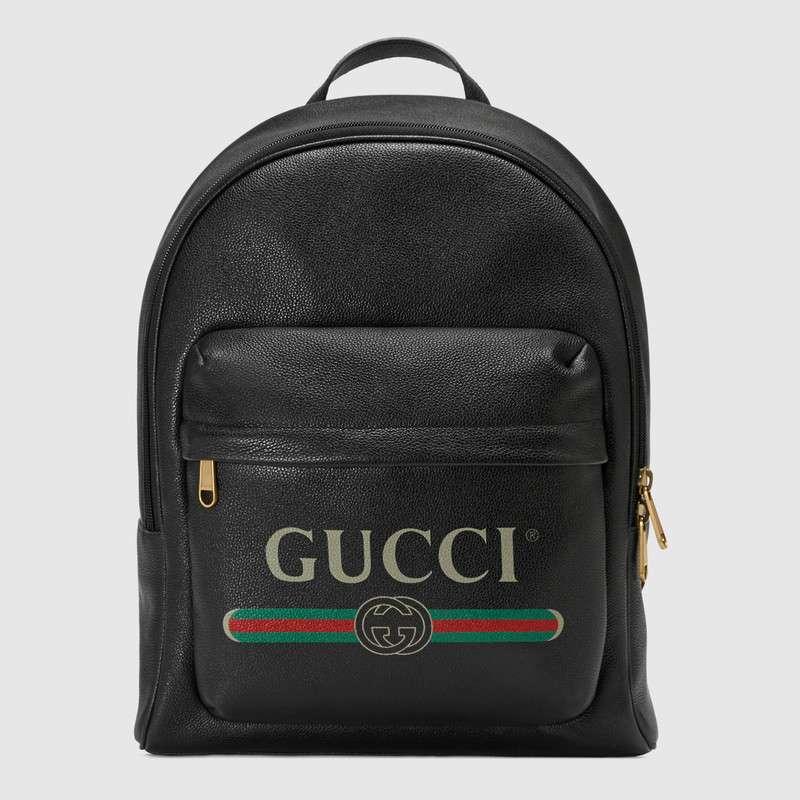 88f69ef060a1 Gucci Print leather backpack 547834 black