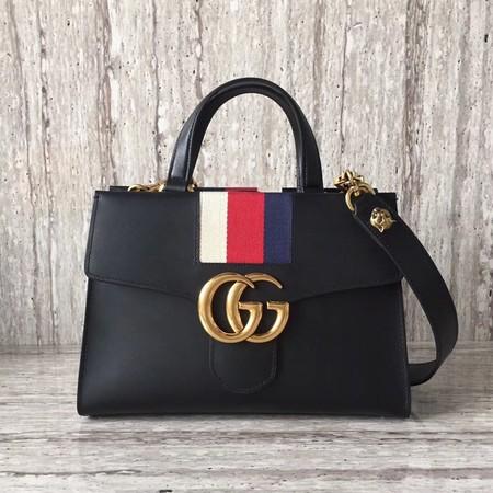 Gucci GG Marmont Small Top Handle Bag 476472 Black