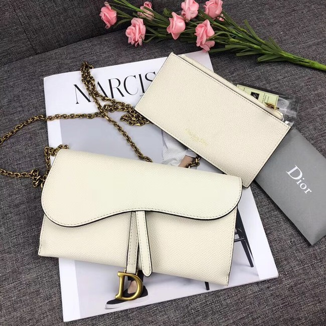 DIOR WITH CHAIN bag 26955 white