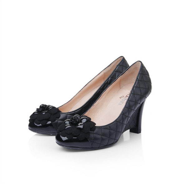 Chanel Sheepskin Leather Pump CH0900 Black