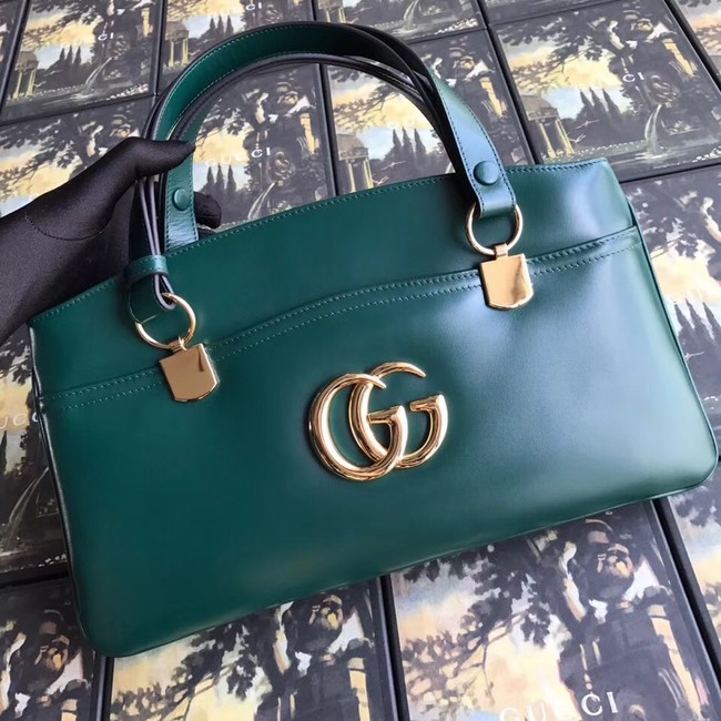 Gucci Arli large top handle bag 550130 green