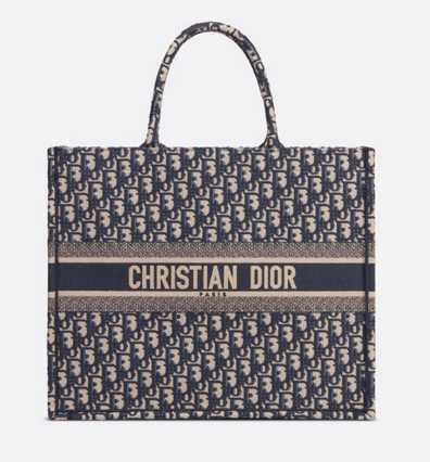 DIOR BOOK TOTE BAG IN EMBROIDERED DIOR OBLIQUE CANVAS M1286