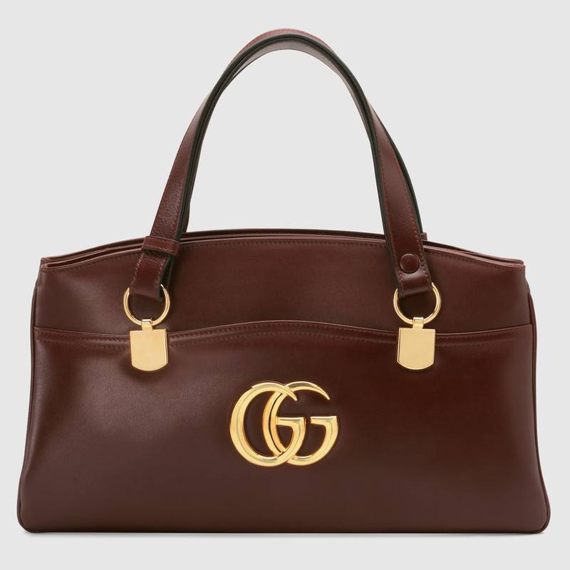 Gucci Arli large top handle bag 550130 Burgundy