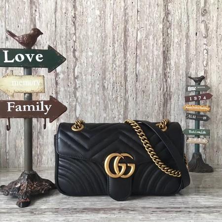 11f4bc8d7eb Gucci Now GG Marmont Matelasse Shoulder Bag 443496 Black