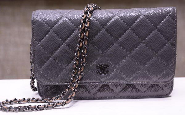 Chanel mini Flap Bag Cannage Pattern A33814C Grey