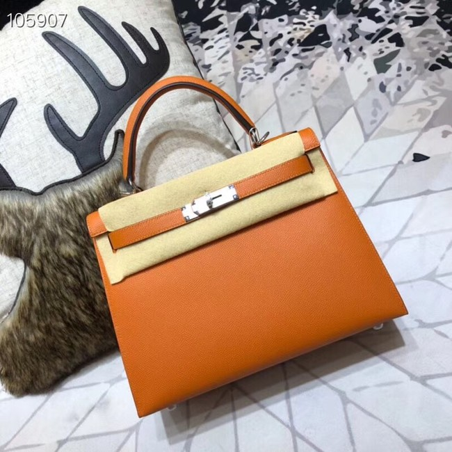 Hermes original Kelly Epsom Leather KL32 orange