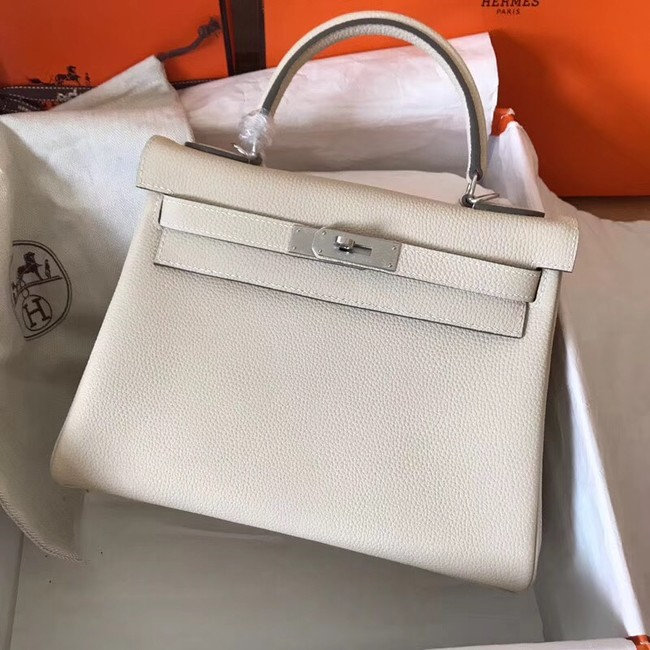 Hermes original Togo leather kelly bag KL320 cream