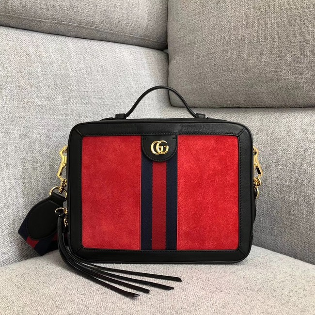 Gucci Ophidia small shoulder bag 550622 red suede
