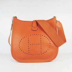 Hermes Cowhide Evelyne Messenger Bag 6309 Orange