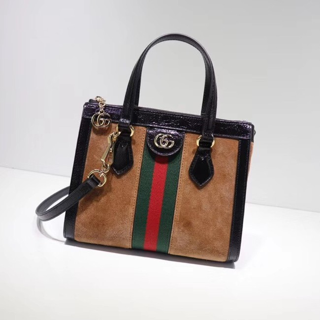 Gucci Ophidia small GG tote bag 547551 brown suede