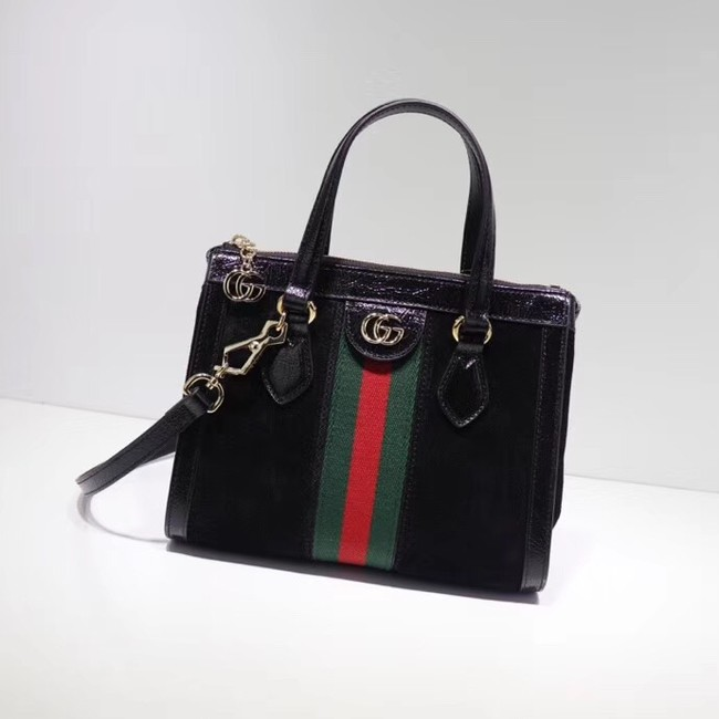 Gucci Ophidia small GG tote bag 547551 Black suede