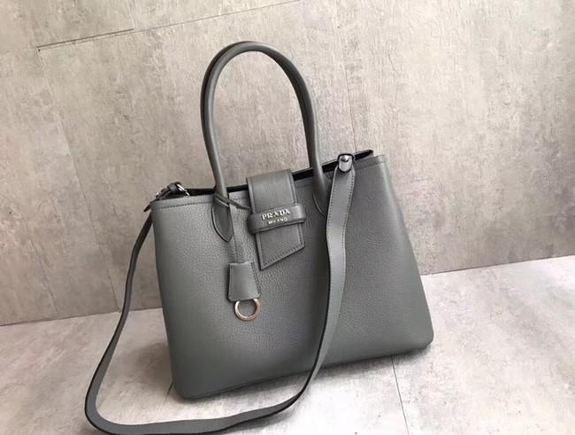 Prada Leather handbag 1BG148 grey