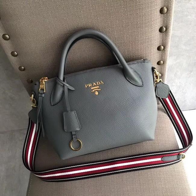 Prada Calf leather bag 1BH111 grey