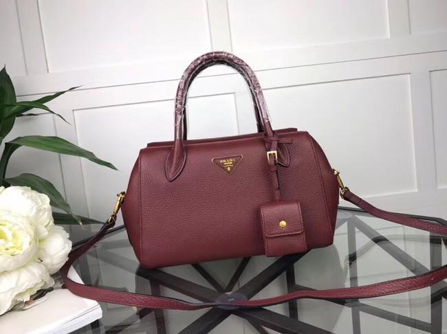 Prada Calf leather bag 1031 Burgundy