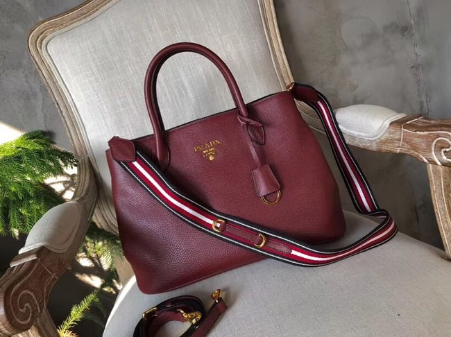 Prada Calf leather bag BN1579 Burgundy