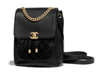 b21435b0cec9 Chanel backpack Grained Calfskin Calfskin   Gold-Tone Metal A57570 black