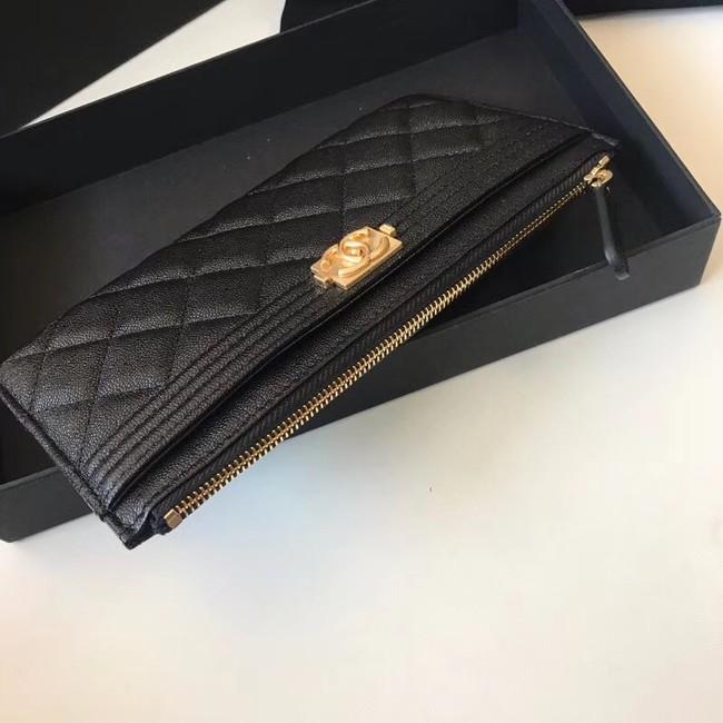 a267c24cfa58 Chanel boy chanel pouch Calfskin & Gold-Tone Metal A81254 black ...