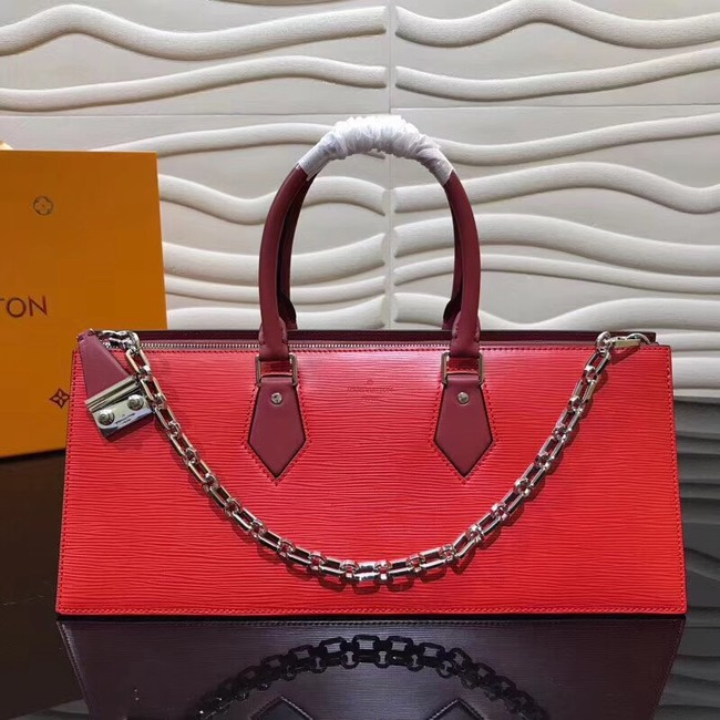 Louis Vuitton SAC TRICOT Epi Leather M52805 red