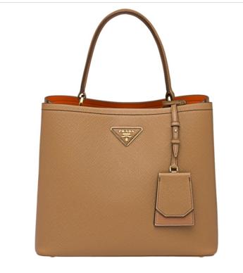 Prada Double Saffiano leather bag 1BA211 Apricot
