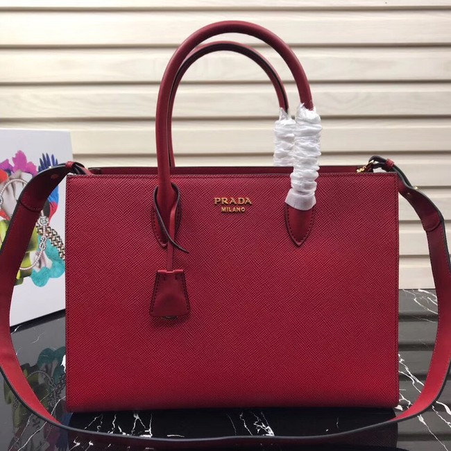 Prada Saffiano Leather Tote Large 1BA153 red
