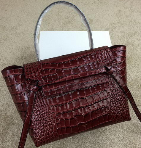 Celine Belt Bag Original Croco Leather CL98312M Burgundy