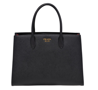 Prada Saffiano Leather Tote Large 1BA153 black