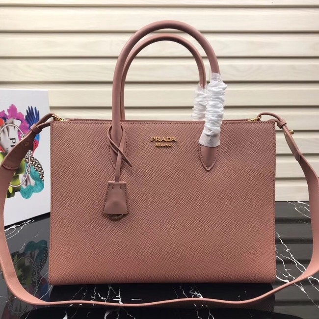 Prada Saffiano Leather Tote Large 1BA153 pink