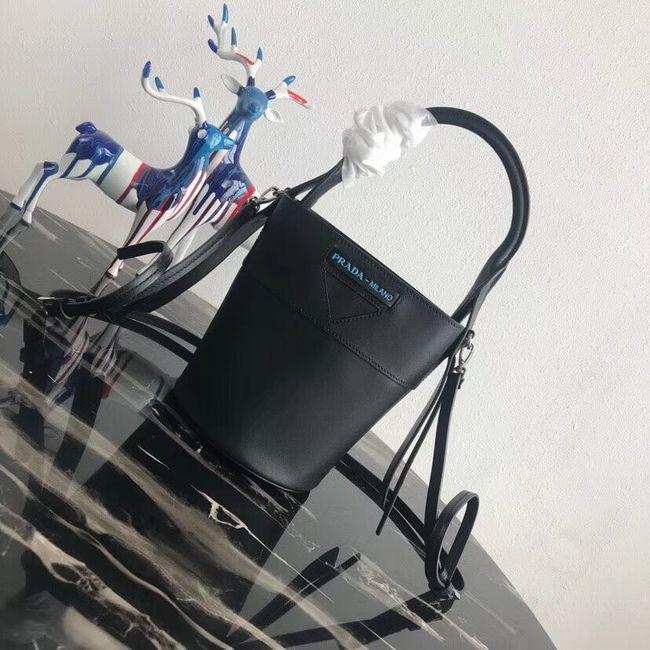Prada Margit leather shoulder bag 1BE015 Black