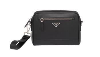 Prada Saffiano leather shoulder bag 2VH063 black
