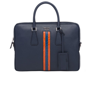 Prada Saffiano leather work bag 2VE368-3 black
