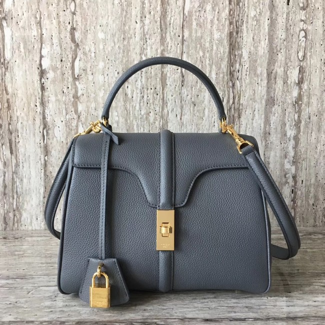 CELINE SMALL 16 BAG IN SATINATED CALFSKIN 188003 GREY