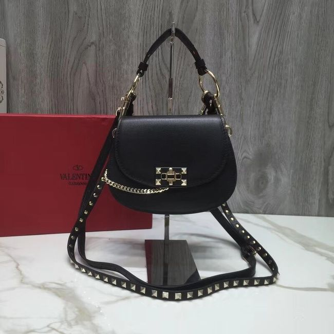 VALENTINO Candy quilted leather cross-body bag V3412 black