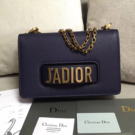 Dior JADIOR Flap Bag Calfskin M9003 Royal
