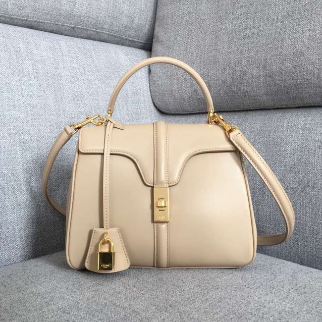 CELINE SMALL 16 BAG IN SATINATED CALFSKIN 188003 cream