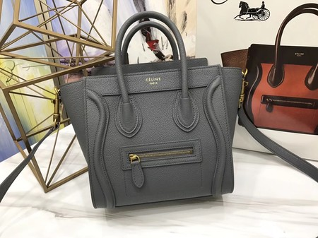 Celine Luggage Nano Tote Bag Original Leather CA3560 Deep Grey