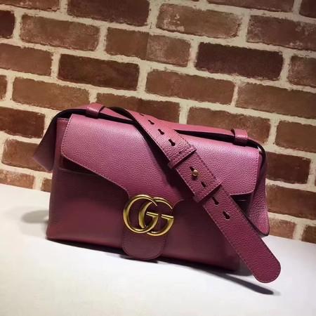 4c8ec297b82 Gucci GG Marmont Leather Shoulder Bag 401173 Rose