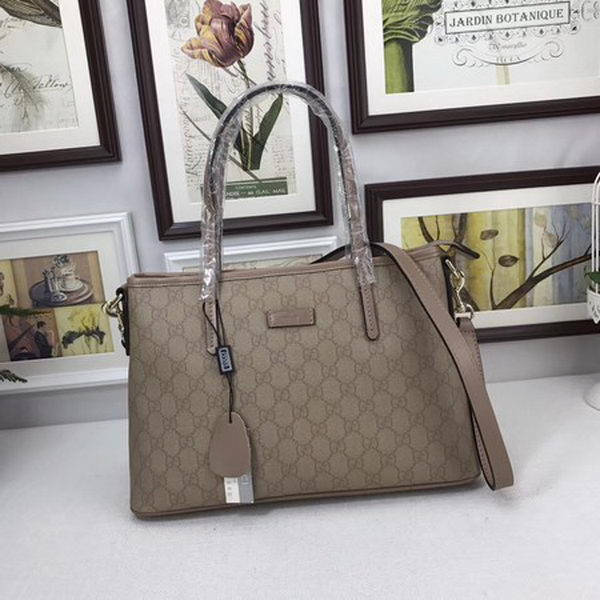 1e7e5defbca Gucci GG Supreme Canvas Tote Bag 353440 Camel