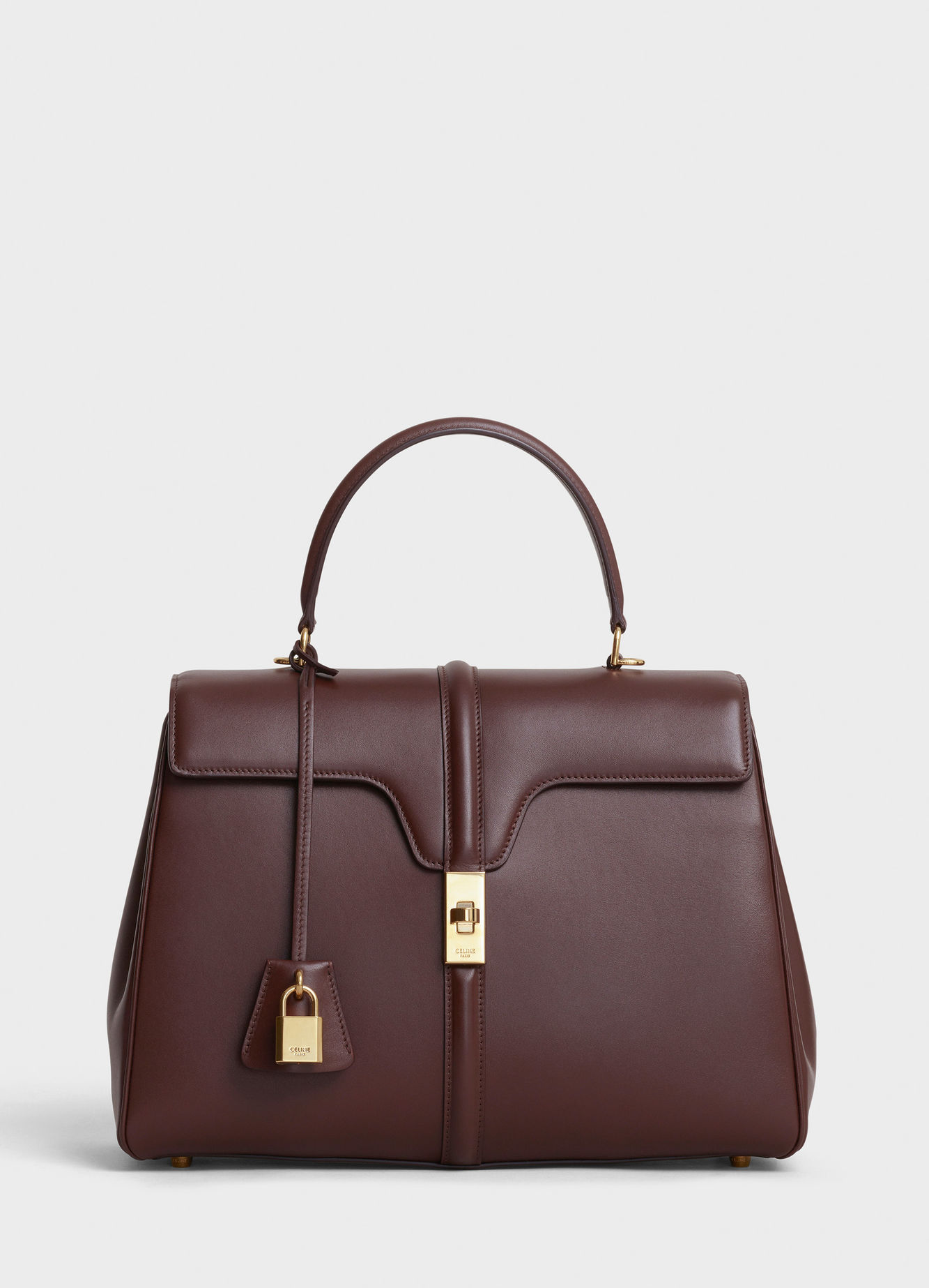 CELINE MEDIUM 16 BAG IN SATINATED CALFSKIN 187373 BROWN