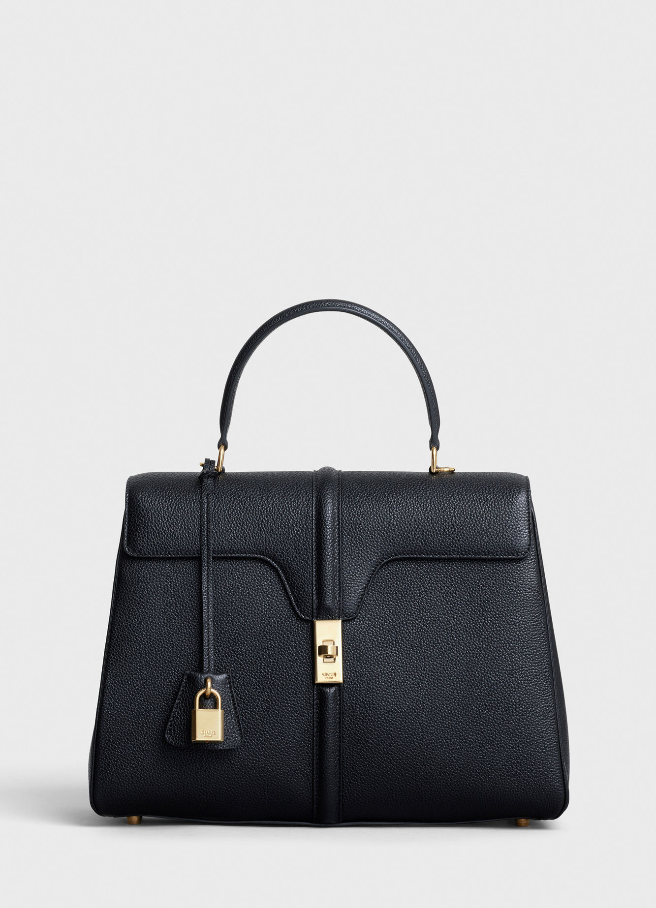 CELINE MEDIUM 16 BAG IN SATINATED CALFSKIN 187373 BLACK