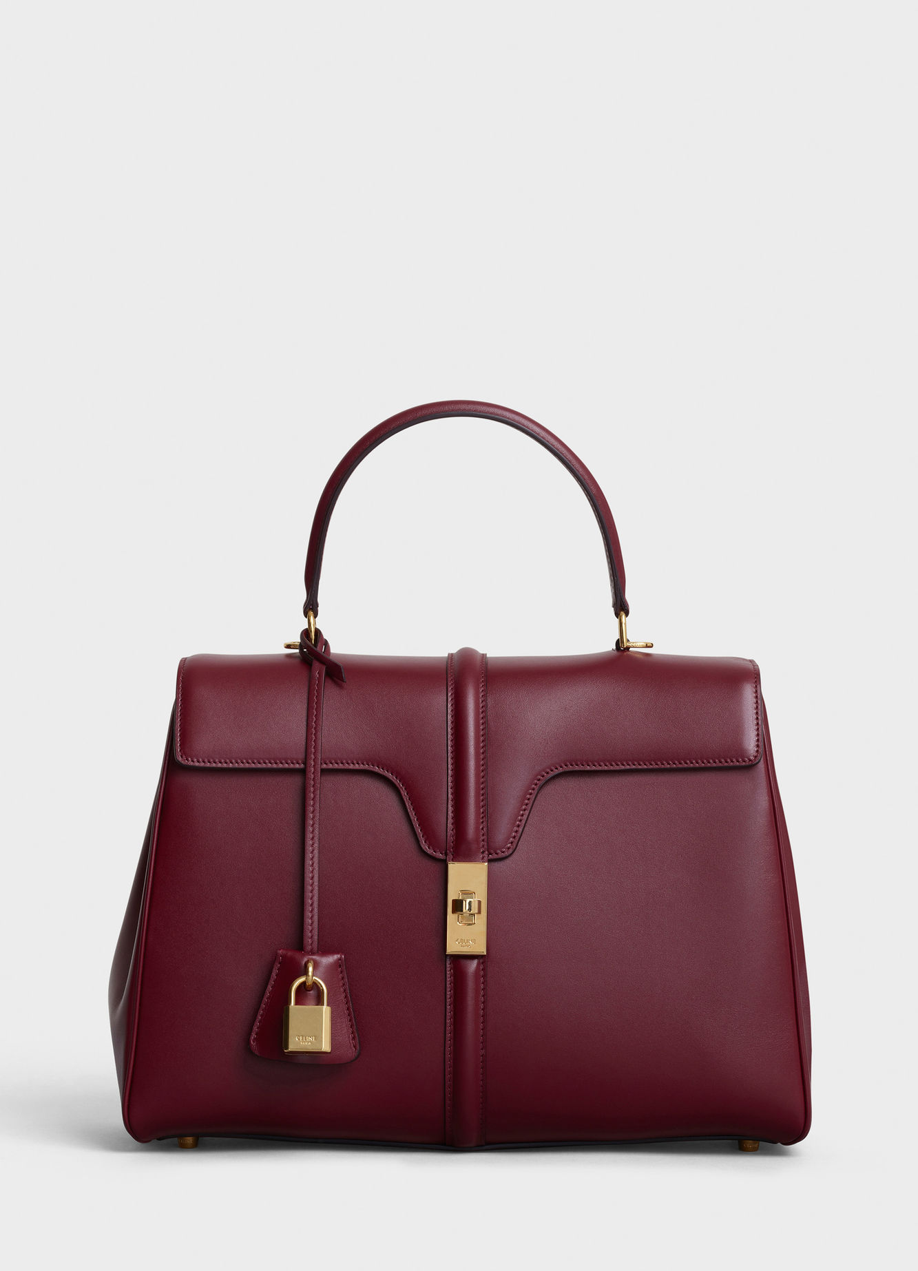 CELINE MEDIUM 16 BAG IN SATINATED CALFSKIN 187373 LIGHT BURGUNDY