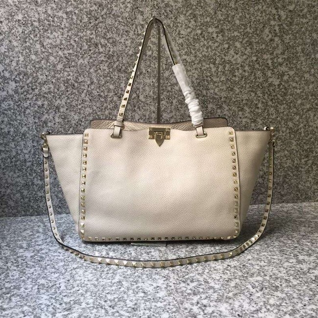 VALENTINO Rockstud large tote 0973 white