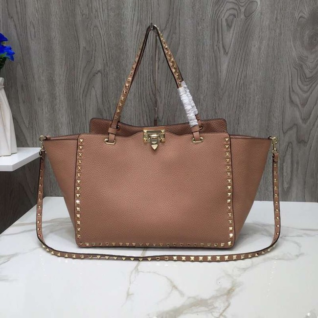 VALENTINO Rockstud large tote 0973 apricot