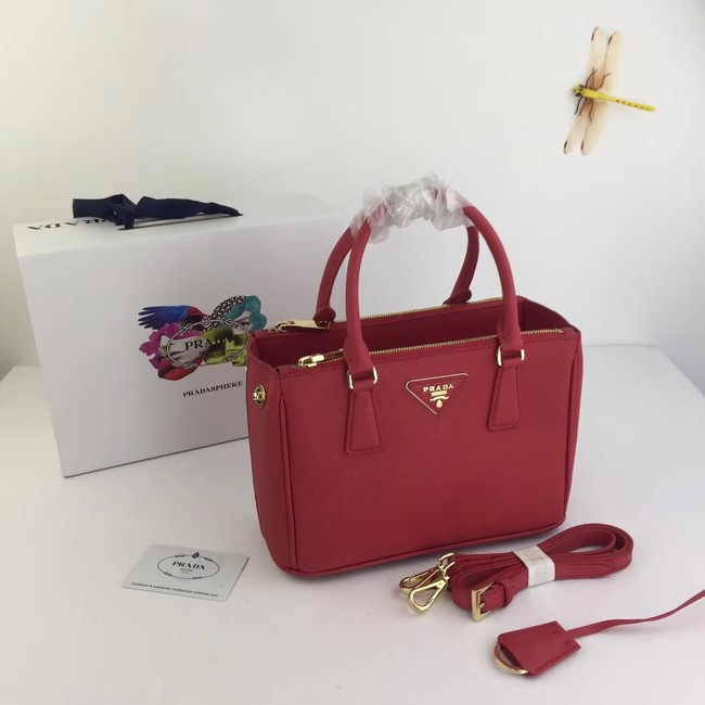 Prada Galleria Small Saffiano Leather Bag BN2316 red