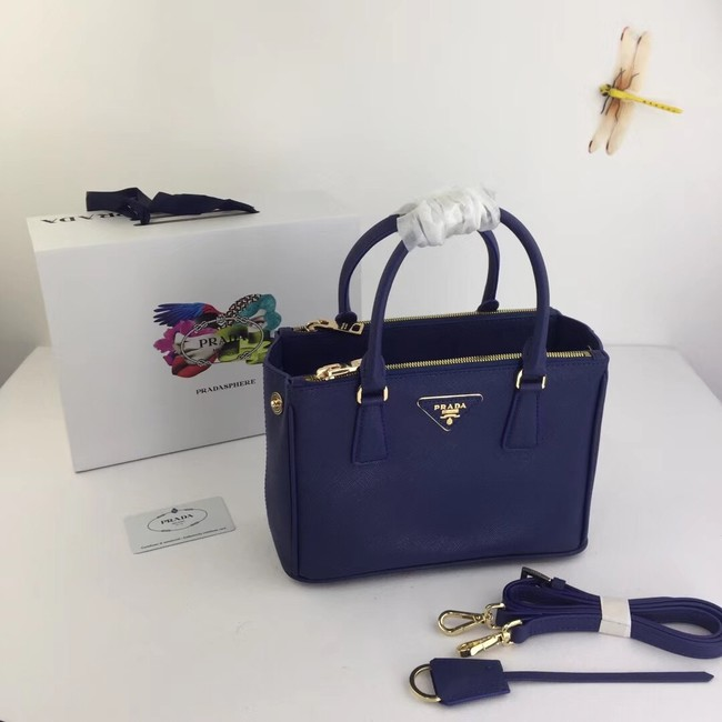 Prada Galleria Small Saffiano Leather Bag BN2316 blue
