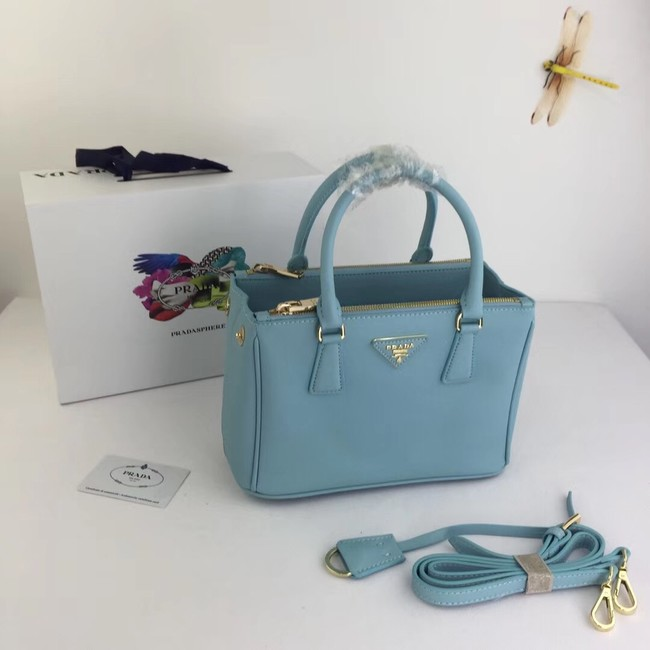 Prada Galleria Small Saffiano Leather Bag BN2316 light blue